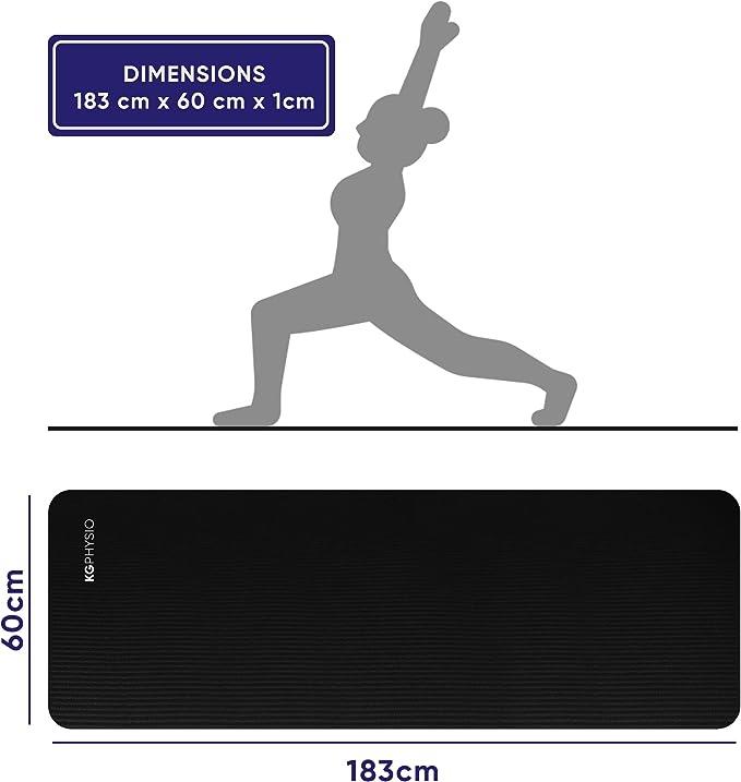 Entrainement et Exercices Ecologique Epais Yoga LIPPIA Gym 183*61*0,6cm Tapis de Yoga en TPE Antid/érapant + sac de transport + serviette rafraichissante Fitness Respect de lEnvironnement