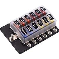 KKmoon Caja de Fusibles DC 32V Porta fusibles
