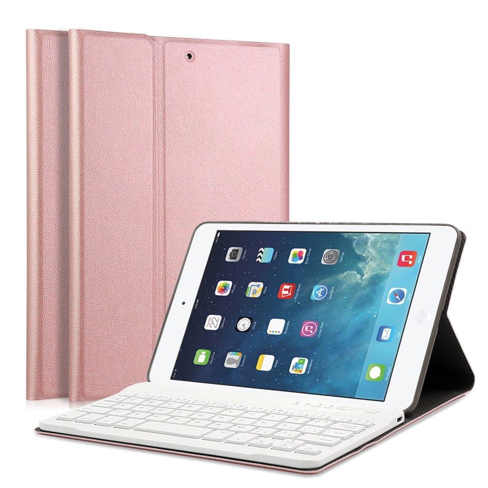 iPad Mini 1/2/3 Keyboard Case - LUCKYDIY 7.9'' Ultra Slim Shell Stand Cover with Magnetically Detachable Wireless Bluetooth Keyboard for Apple iPad Mini 1 / Mini 2 / Mini 3