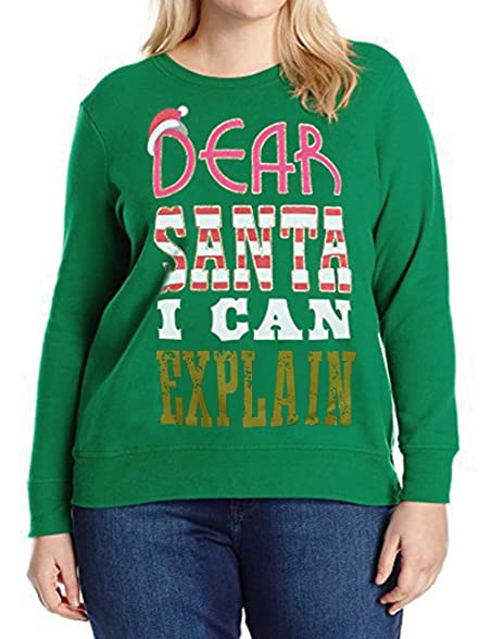 Amazoncom Narzhou Dear Santa I Can Explain Women Christmas Xmas