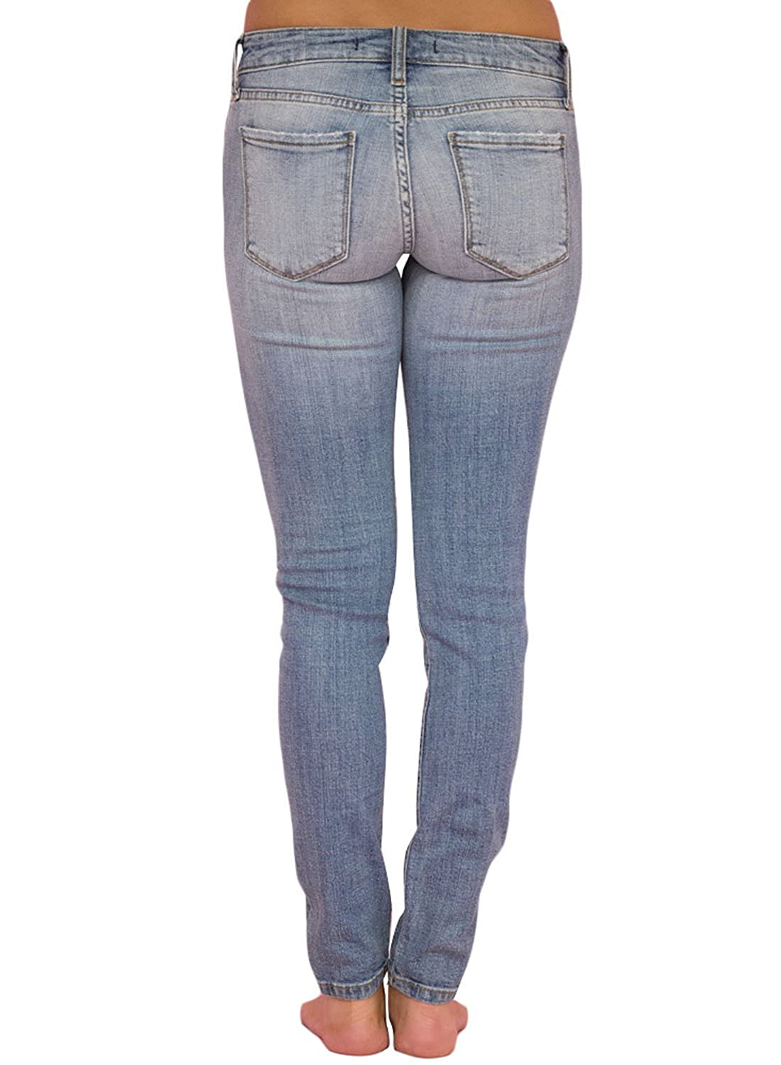 ba74001fe02f0 Sidefeel Women Hight Waist Ripped Denim Ankle Length Skinny Jeans HX78691-P  Christmas Supplies
