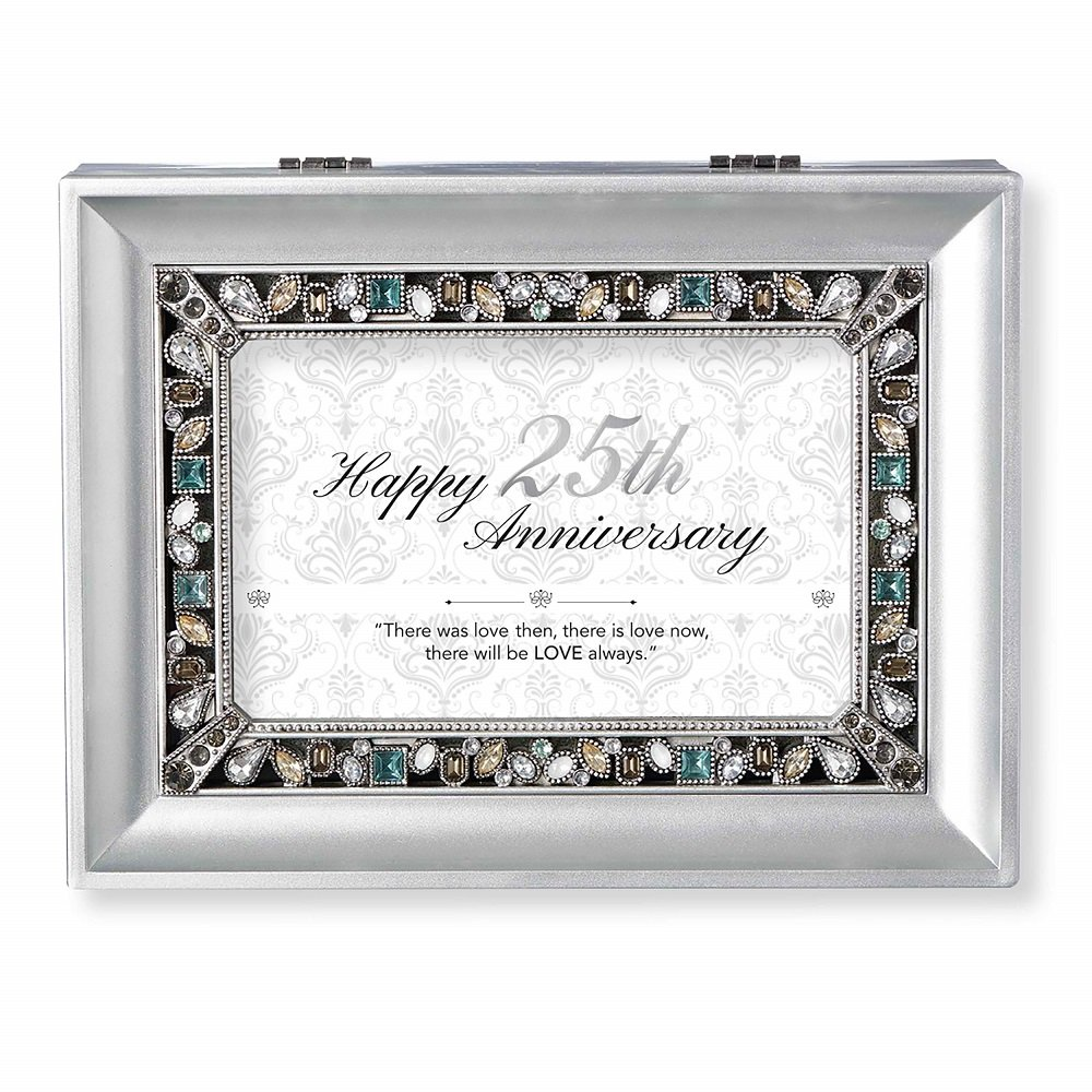 100 %品質保証 ローマ 宝石で飾られた20周年記念 シルバー シルバー ローマ B07DYRJG1J オルゴール B07DYRJG1J, ブルーマート:ccbd2ef8 --- hohpartnership-com.access.secure-ssl-servers.biz