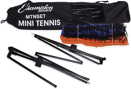 Champion Sports Portable Tennis Net 10 Foot Kids Mini Tennis Set Athletic Equipment