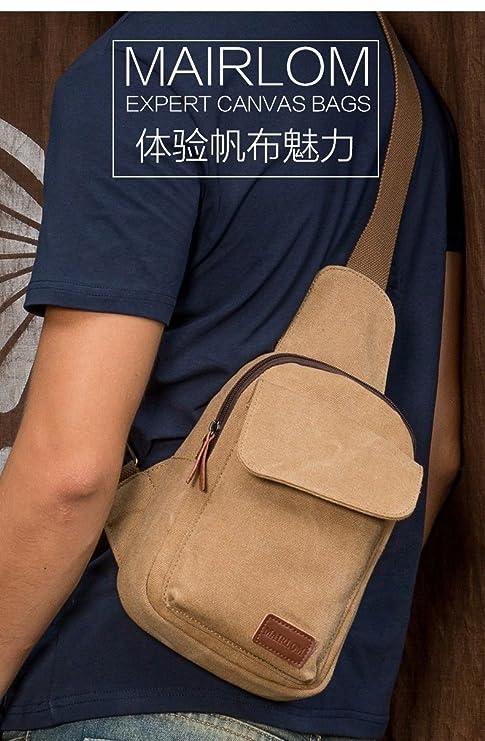 677d0571d7 MSZYZ Coffre pour Homme et Korean Version du Décontracté pour Homme Sac  Toile Sac Banane, Femme, Light Caffeine: Amazon.fr: Sports et Loisirs