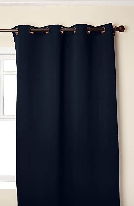 green friendly curtain thick insulated curtains ecofriendly linen blackout blue p eco navy