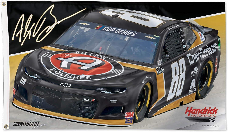 WinCraft NASCAR Hendrick Motorsports Alex Bowman NASCAR Alex Bowman #88 3' X 5' Flag Deluxe, Multi, NA