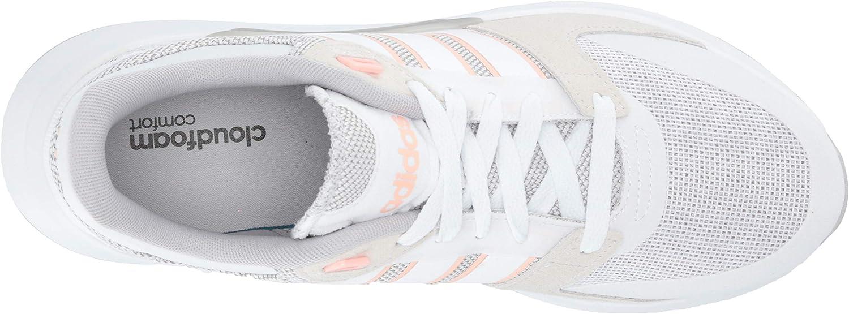 adidas Women's Run 90s Cloudfoam Running Shoes Ftwr White/ Ftwr White/ Glow Pink