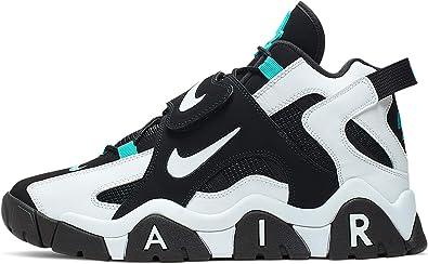 Nike Scarpe da Uomo Sneaker Air Barrage in Pelle Nere e ...