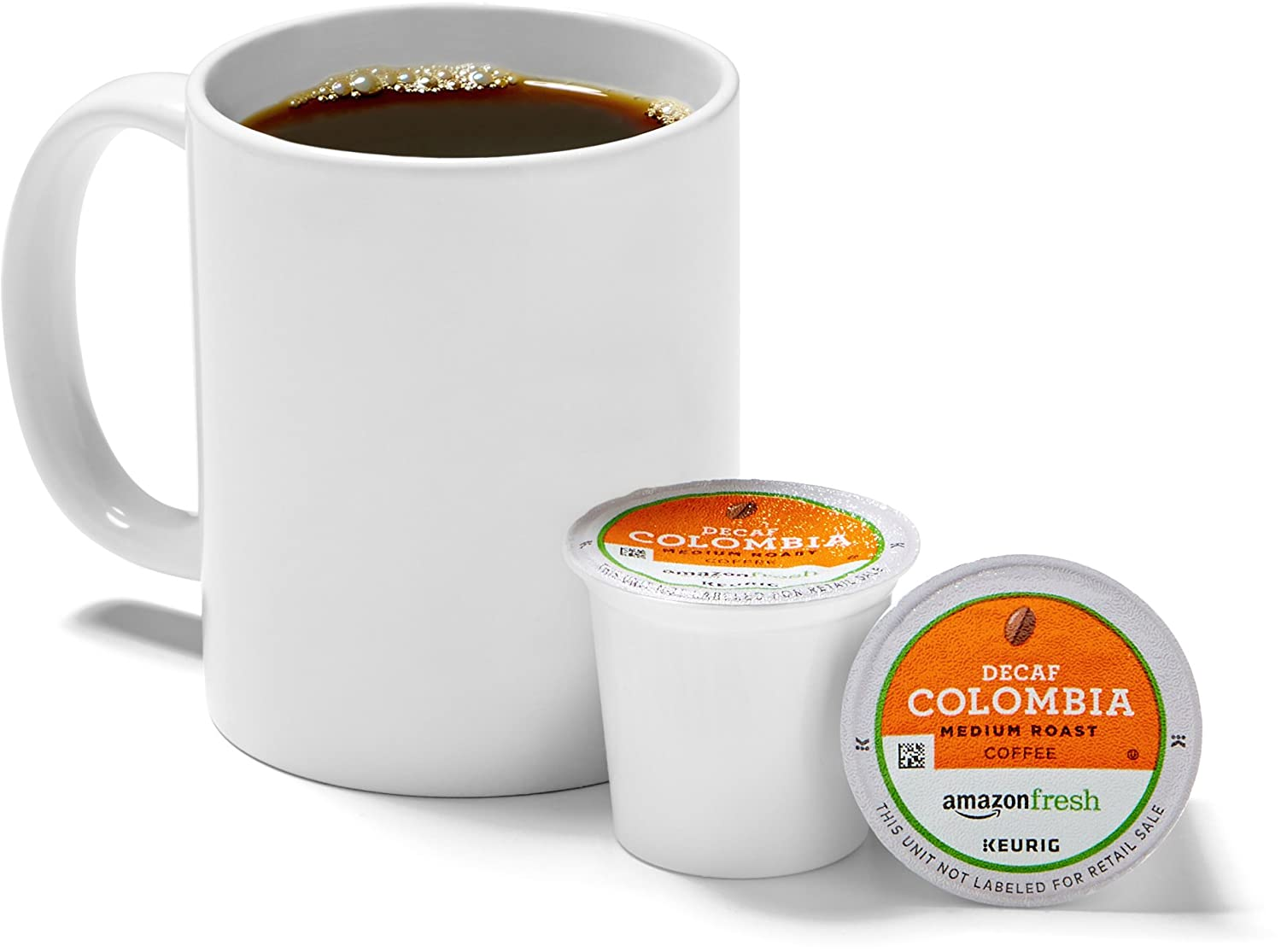 AmazonFresh 80 Ct. K-Cups, Decaf Colombia Medium Roast, Keurig K-Cup Brewer Compatible