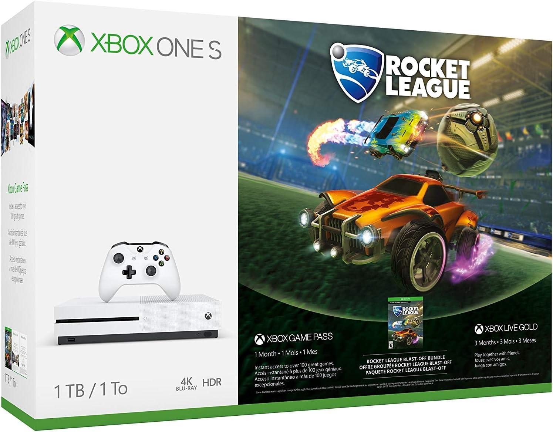 Xbox One S 1TB Console Rocket League Blast-Off Bundle
