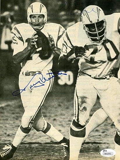 115901d3ad1 JOHNNY UNITAS JSA Cert Hand Signed 8x10 Photo Authentic Autograph at Amazon s  Sports Collectibles Store