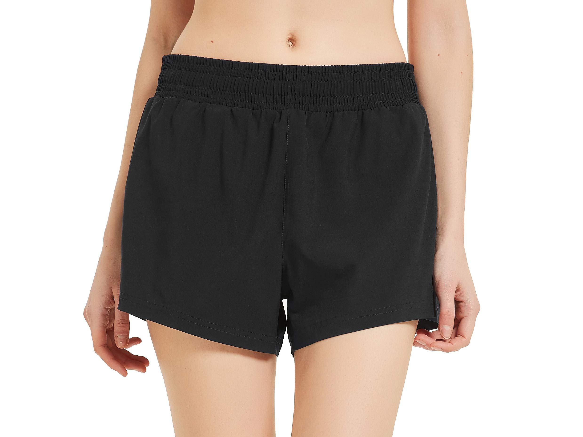 CQC Womens 3″ Running Athletic Shorts Quick Dry Gym Workout Shorts with