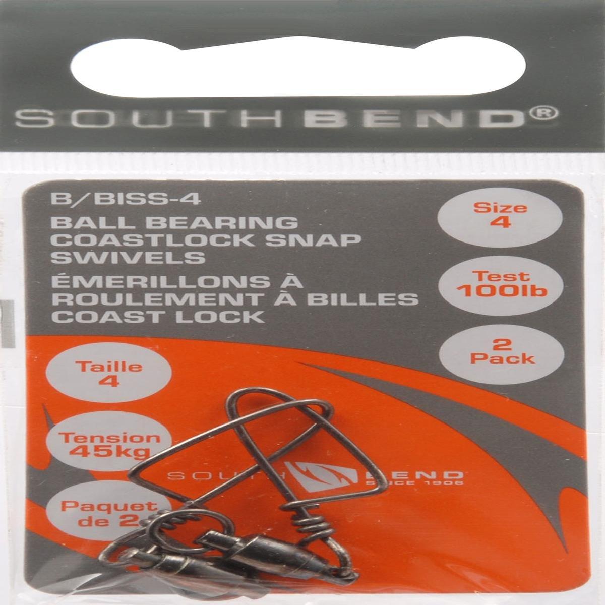 サウスベンドブラックボールベアリングCoastlockスナップスイベル(ブラック、4)   B000SNWRT6