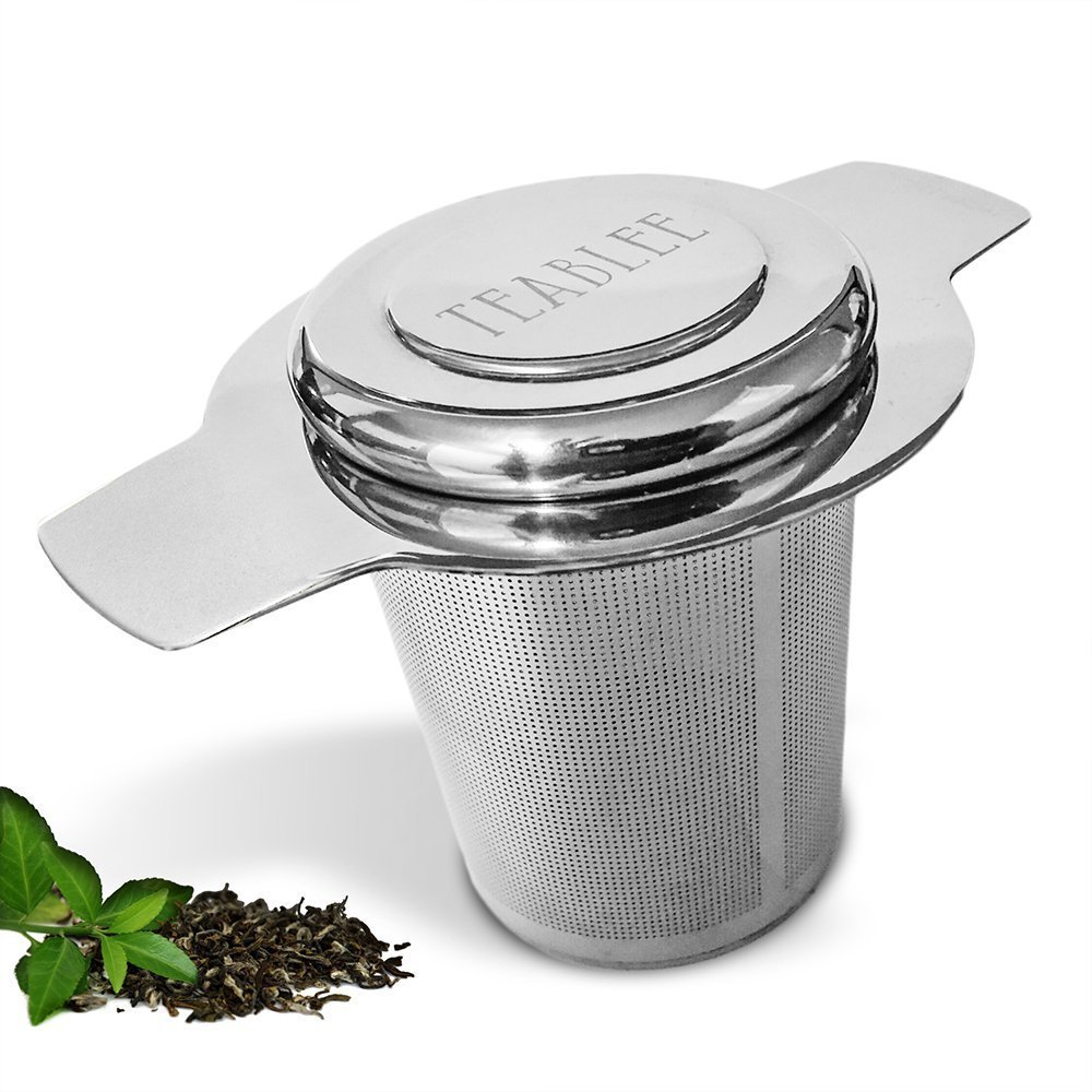 Teablee Tea Infuser Strainer Steeper | 304 Stainless Steel Extra-Fine Mesh | Best for Brewing Loose Leaf Tea in Cup or Mug