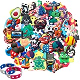 GZLSXCL 25 50 100 125 Random Different Shoe Charms Fits for Clog Shoes Decorations Wristband Bracelet Party Gift