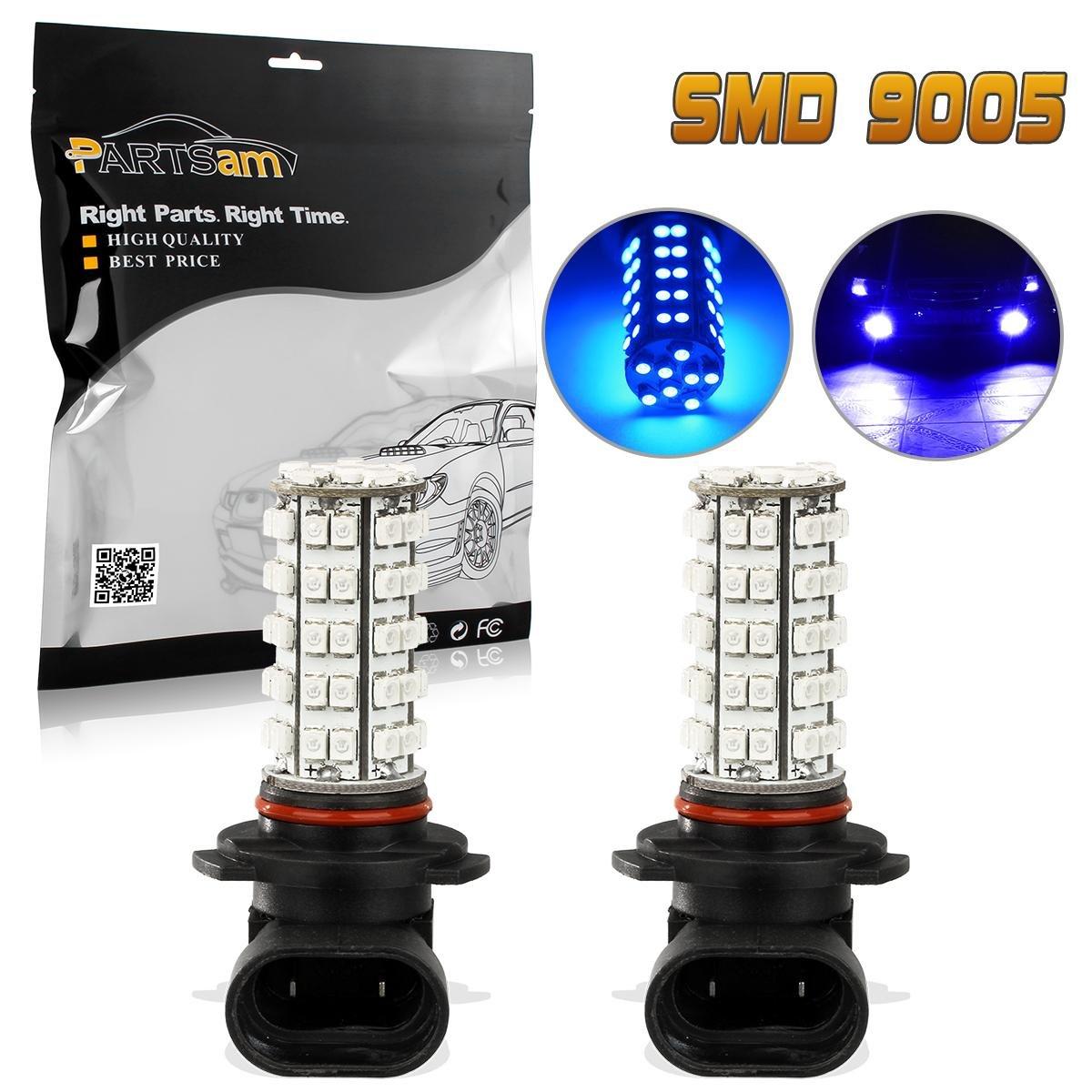 Partsam Blue 68-SMD 9005 LED Daytime Running Lights x2 Jootop