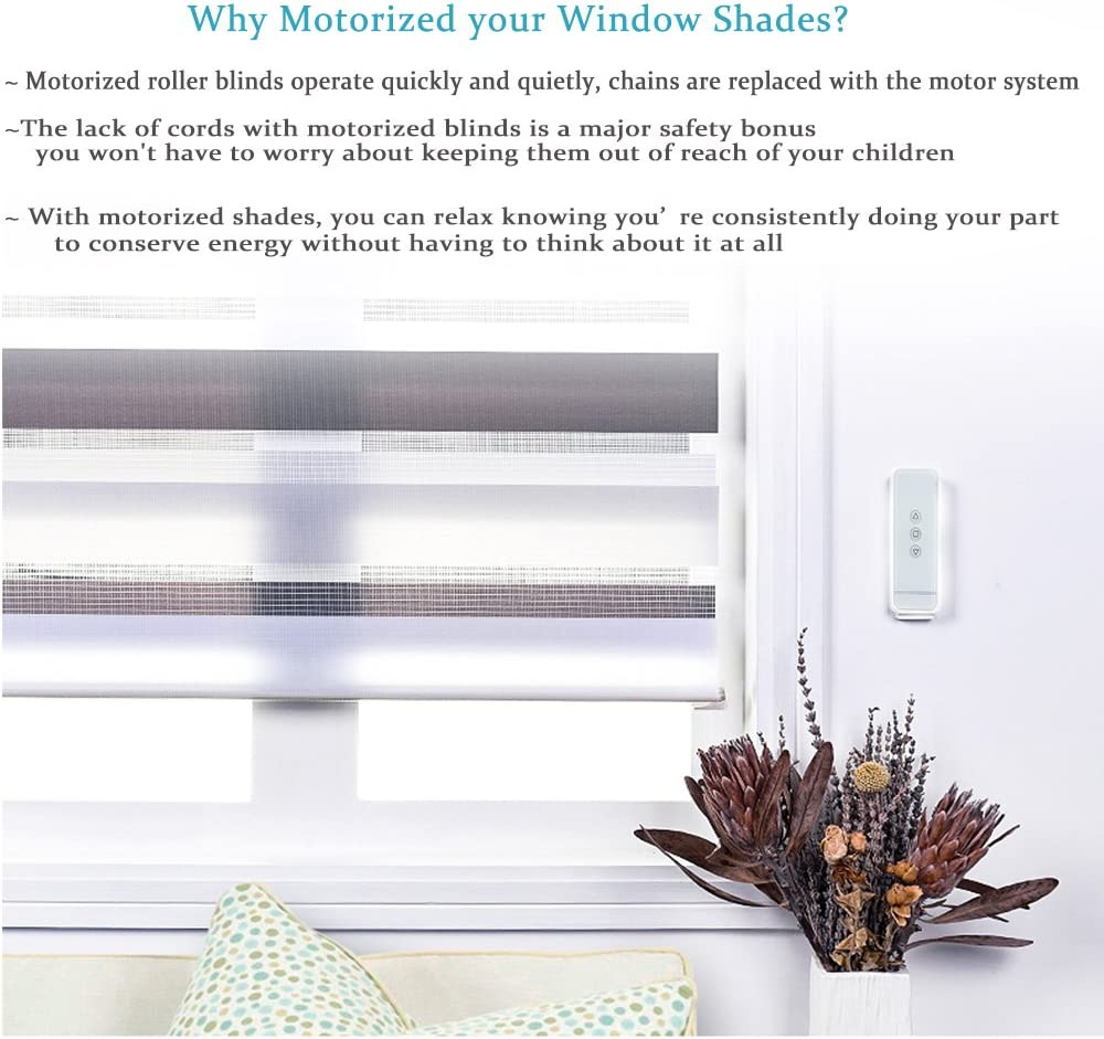 Motorized curtain blinds 4.0-5.1m width with remote control free shipping