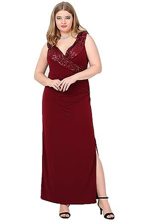 ANGELINO Damen Kleid Empire Übergrösse Designer Abendkleid Grosse ...