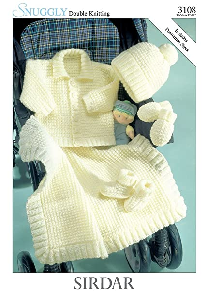 Sirdar Snuggly Dk Baby Knitting Pattern 3108 Amazon Kitchen