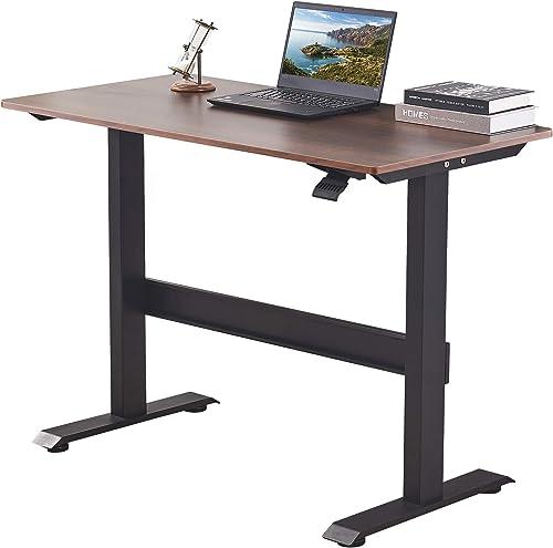 Smile Back Pneumatic Standing Desk Height Adjustable Desk 48 x 24 Inch Workstation Sit Stand Desk Stand Up Desk