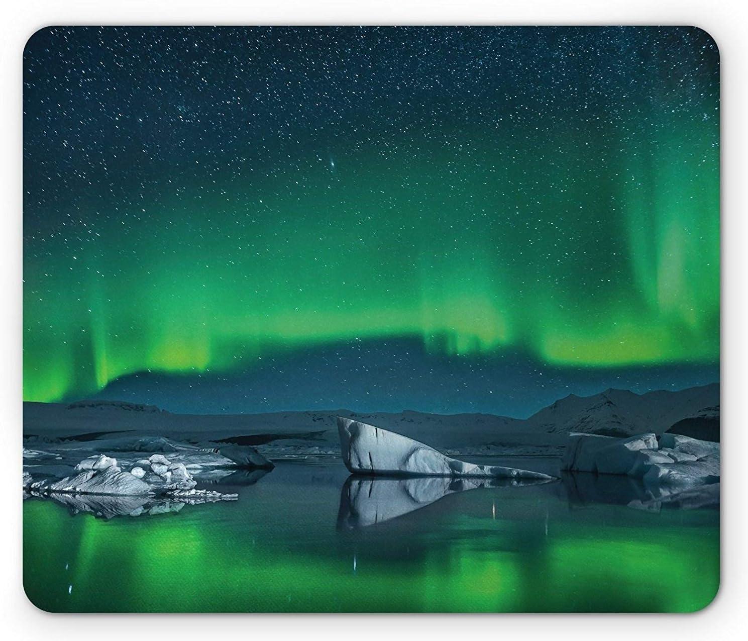 Green Space Aurora Borealis Festival mousepad