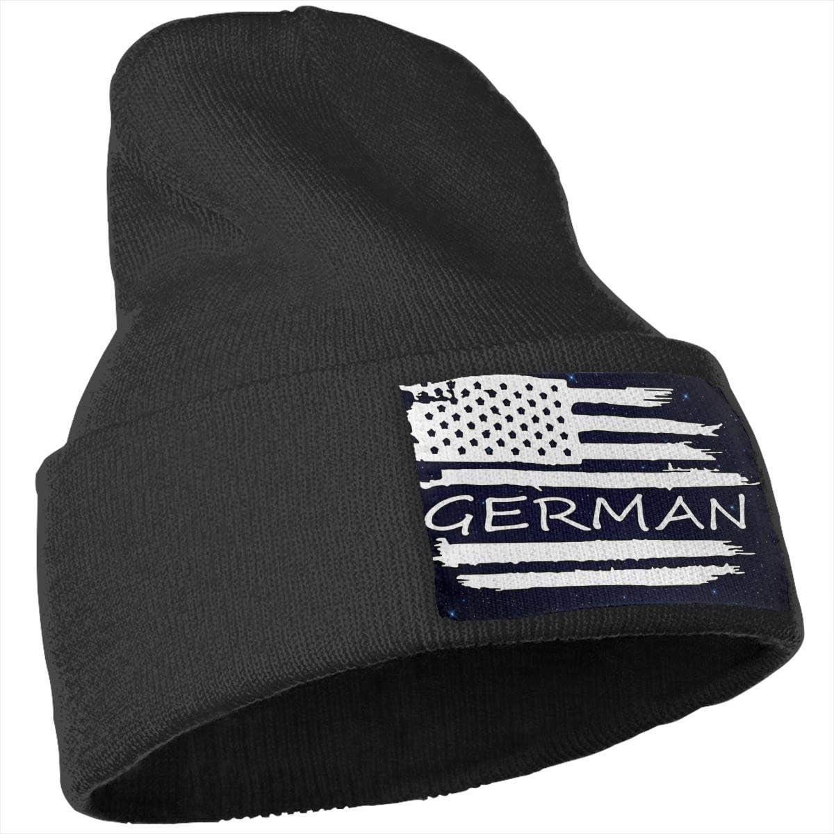 American Flag German Flag Men /& Women Solid Color Knit Beanie Hat Stretchy /& Soft Winter Ski Knit Cap