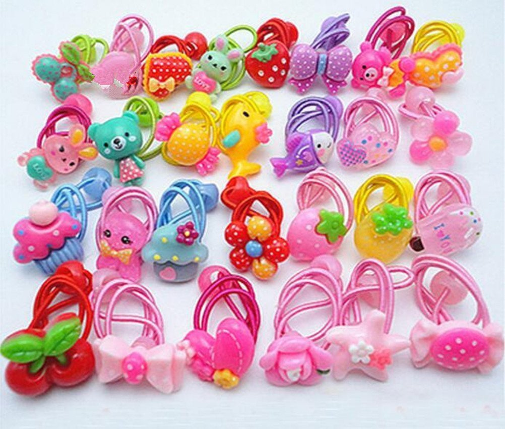 10pcs Hair Ties Band Ring Ropes Ponytail Holder Elastic Accessories· Girl C2C2