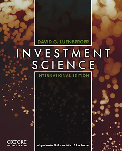 Investment science luenberger d&g time econ 450a investment analysis javier mendez yale