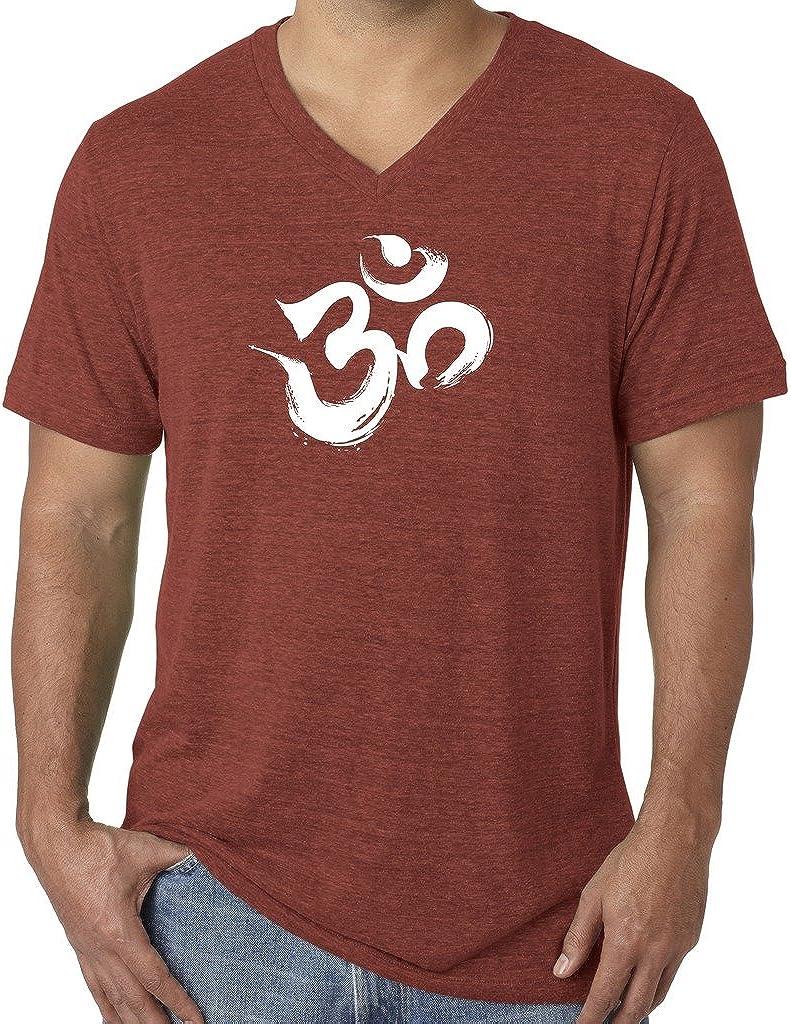Yoga Clothing For You Mens Brushstroke AUM V-Neck Tee