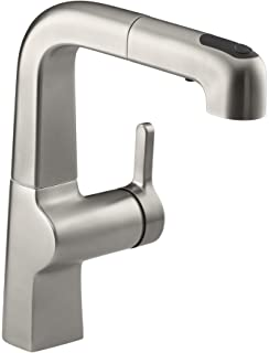 KOHLER K-6331-CP Evoke Single Control Pullout Kitchen Faucet ...