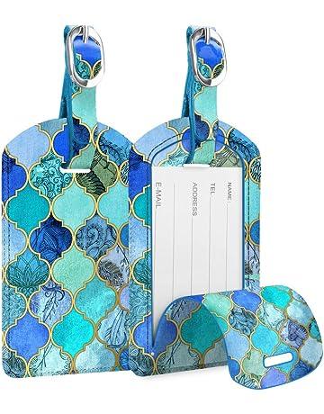 pittospwer /Étiquette rectangle de voyage /étiquette bagage identit/é valise adresse nom /étiquettes argent