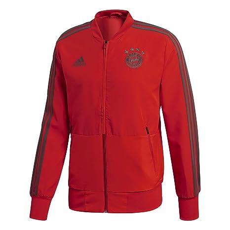 reputable site d4d2a e58f8 adidas 2018-2019 Bayern Munich Presentation Jacket (Red)