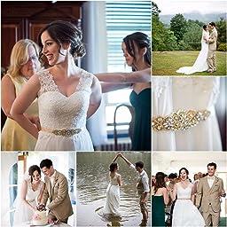 JAEDEN Elegant V Neck A Line Lace Chiffon Long Beach Wedding Dress