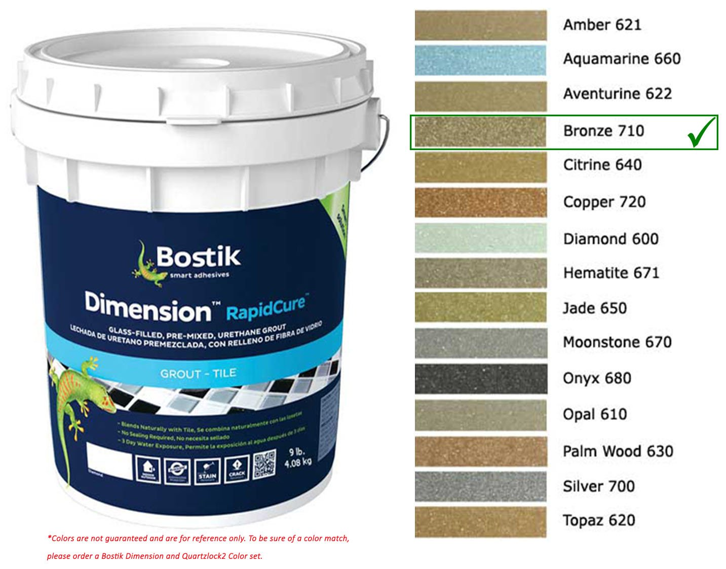 Bostik Dimension StarGlass Grout 710 Bronze 9 lbs