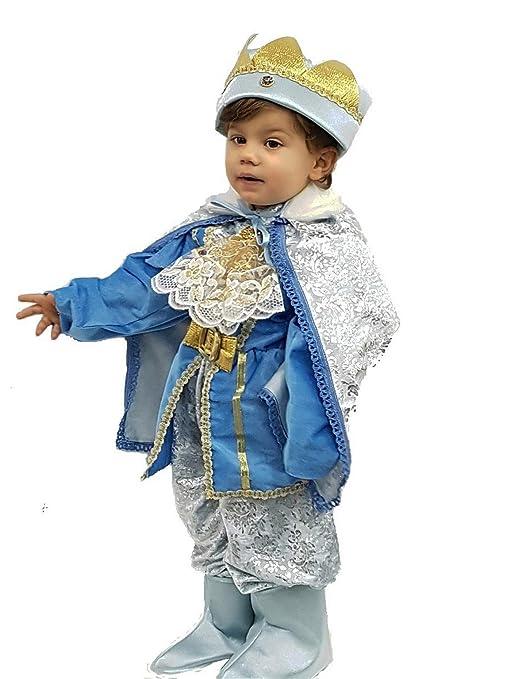PICCOLI MONELLI Costume Principe Azzurro Bambino 3 8 Mesi Vestito  principino Neonato Caldo di Carnevale ... 3bb92dd443f2