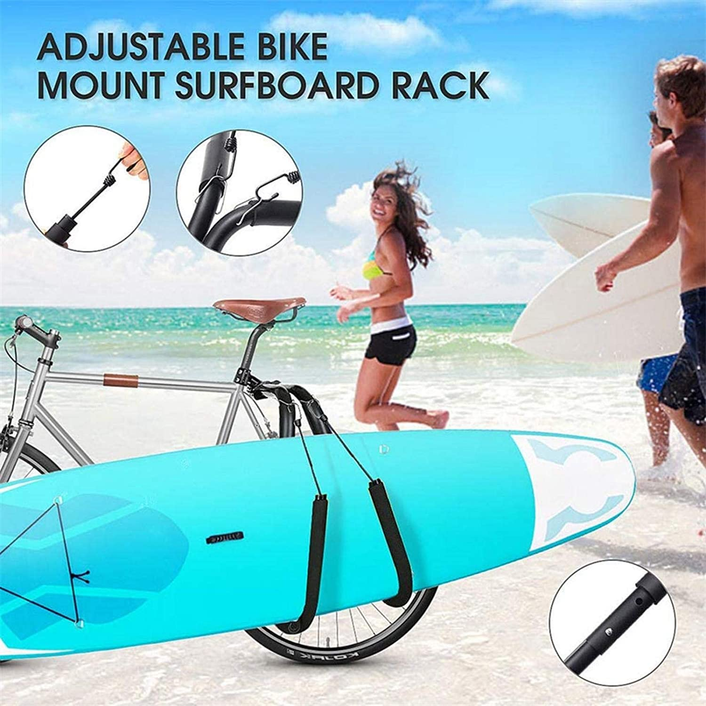 iBaste Surfboard Bike Rack Fahrrad Surfboard Rack Fahrrad Longboard Tr/ägerhalter f/ür Shortboard Wakeboard