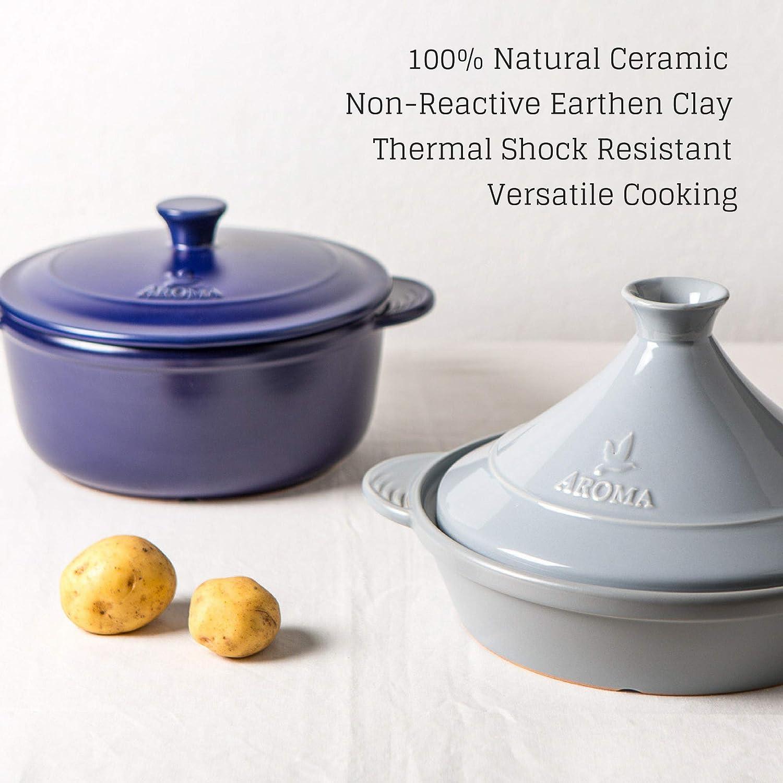Aroma Housewares Aroma DoveWare Dutch Oven, 4 quart, Plum Purple ADC-104PP ,