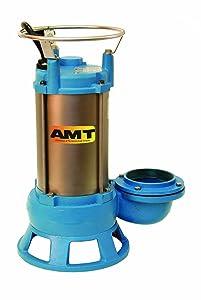 AMT 5761-95B CI Submersible Shredder Sewage Pump, Double Mech Seal, 2