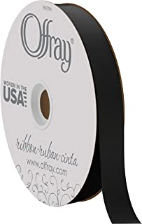 """product image for Berwick Offray 7/8"""" Wide Double Face Satin Ribbon, Black, 100 Yards"""