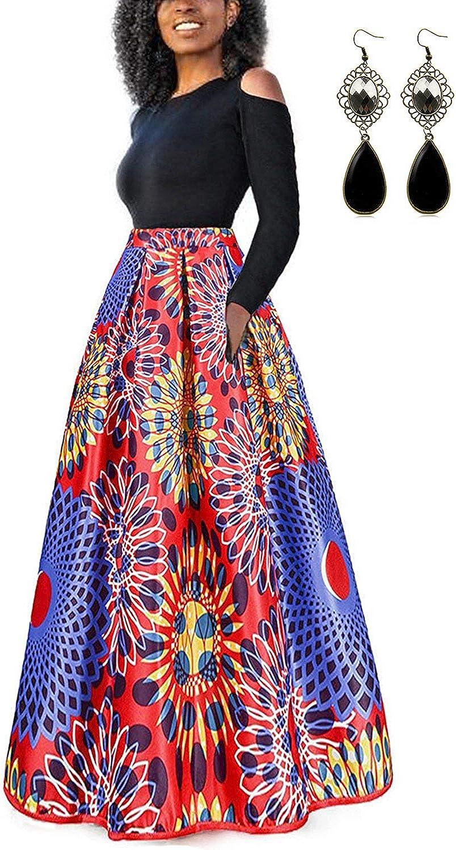 TALLA S. carinacoco Mujer Vestido Fiesta Vintage Floral Impresa Dos Piezas de Cóctel Fiesta Color 6 S
