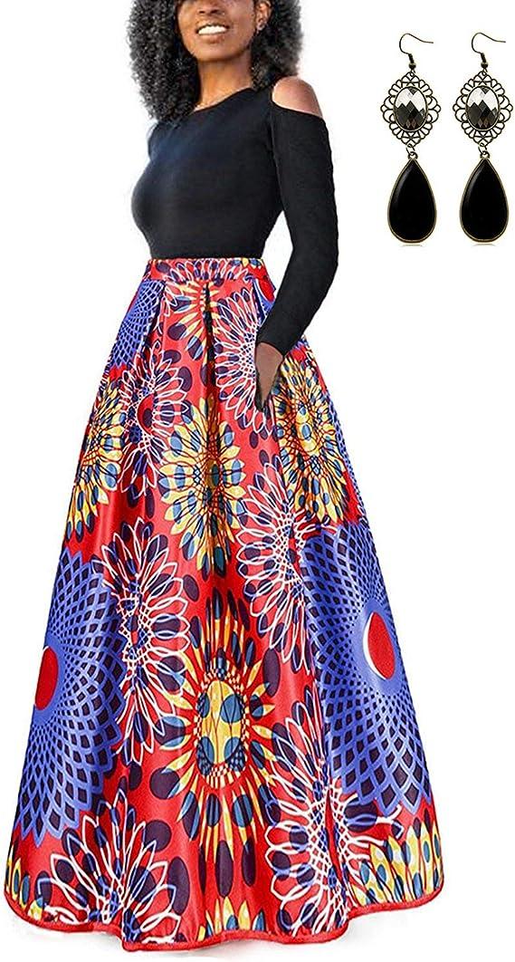 TALLA XXL. carinacoco Mujer Vestido Fiesta Vintage Floral Impresa Dos Piezas de Cóctel Fiesta Color 6 XXL