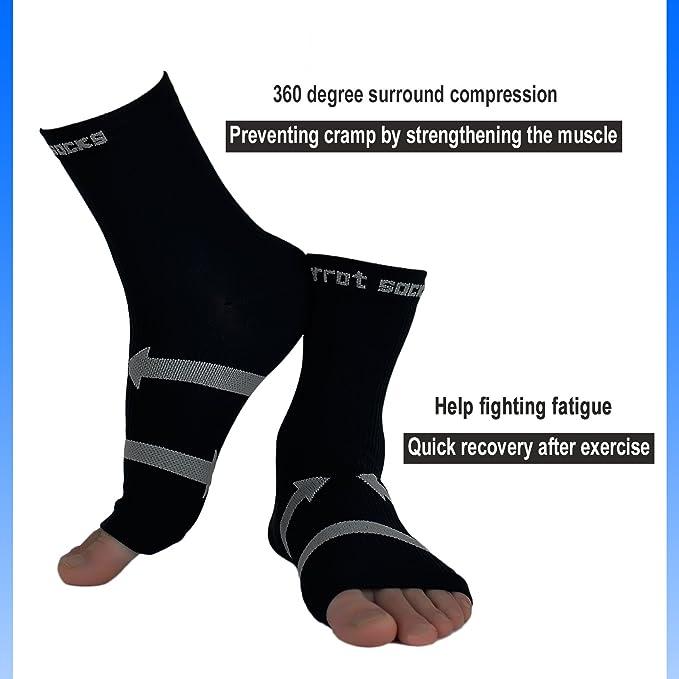 La fascitis plantar de EveShine (1 par), calcetines de compresión del calcetín de la manga con el arco y soporte para el tobillo - Para alivio de espolones ...