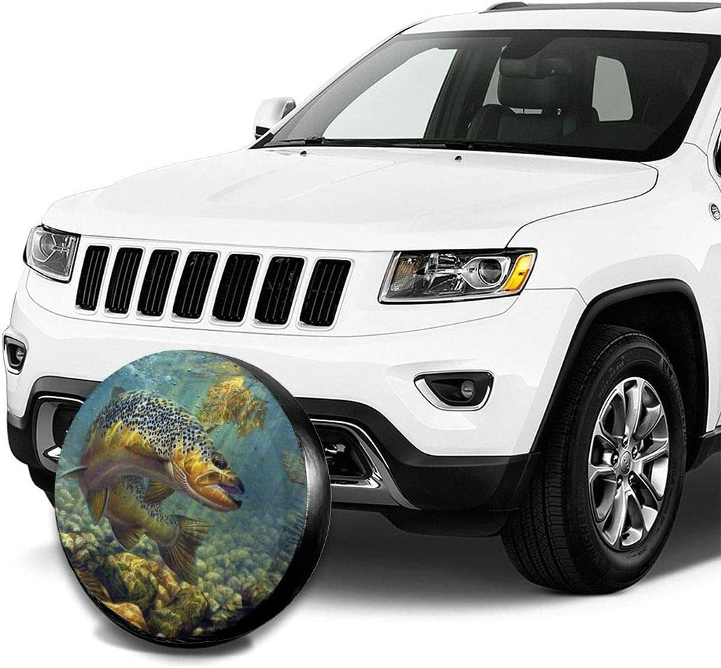 RV SUV and Trucks Custom Spare Tire Cover Colored Flower Waterproof Universal Wheel Tire Cover Protector for Jeep,Trailer