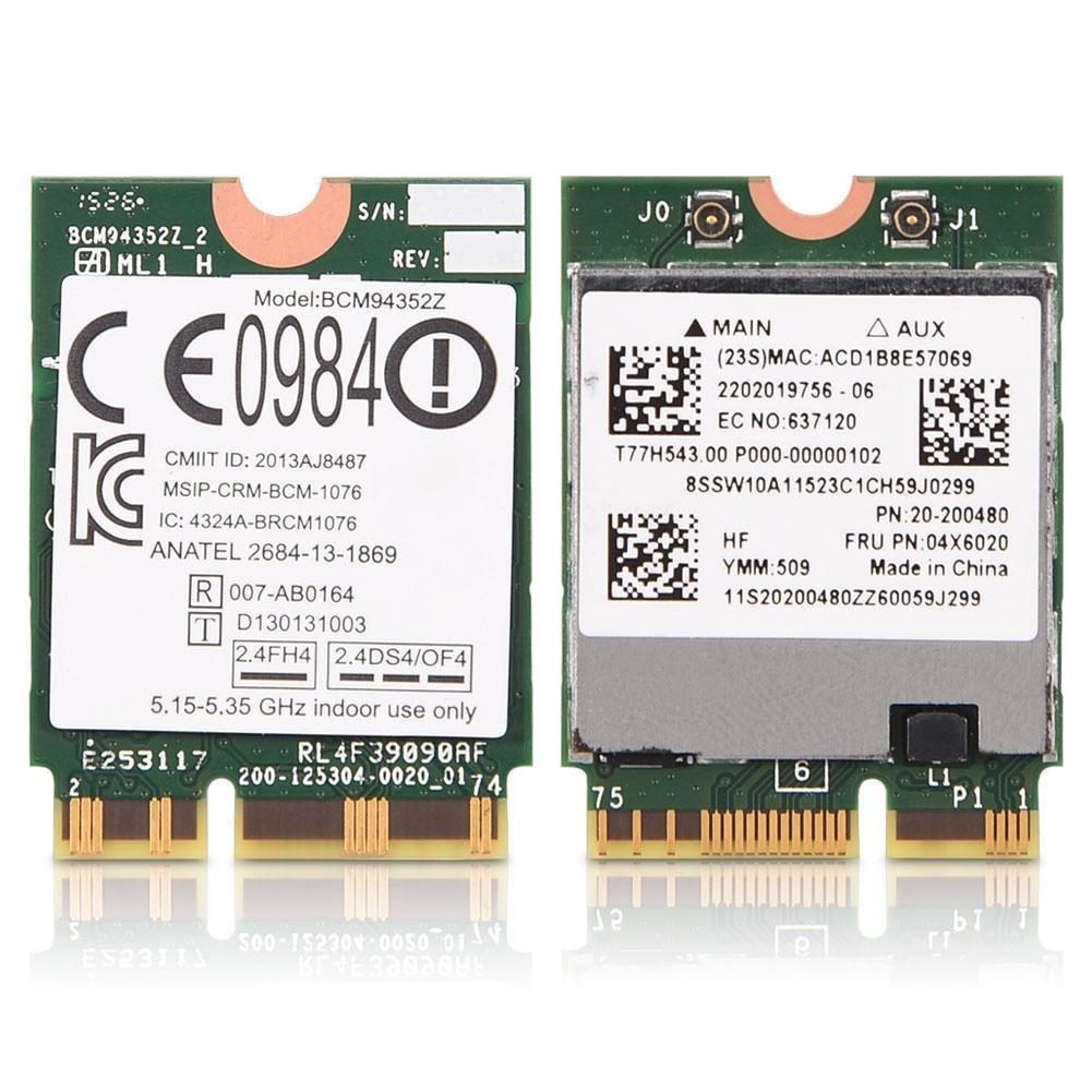 BCM94352Z NGFF 802.11ac Dual Band Wireless WiFi Card Module for Lenovo Y50-70 Touch 04X6020 Yosoo
