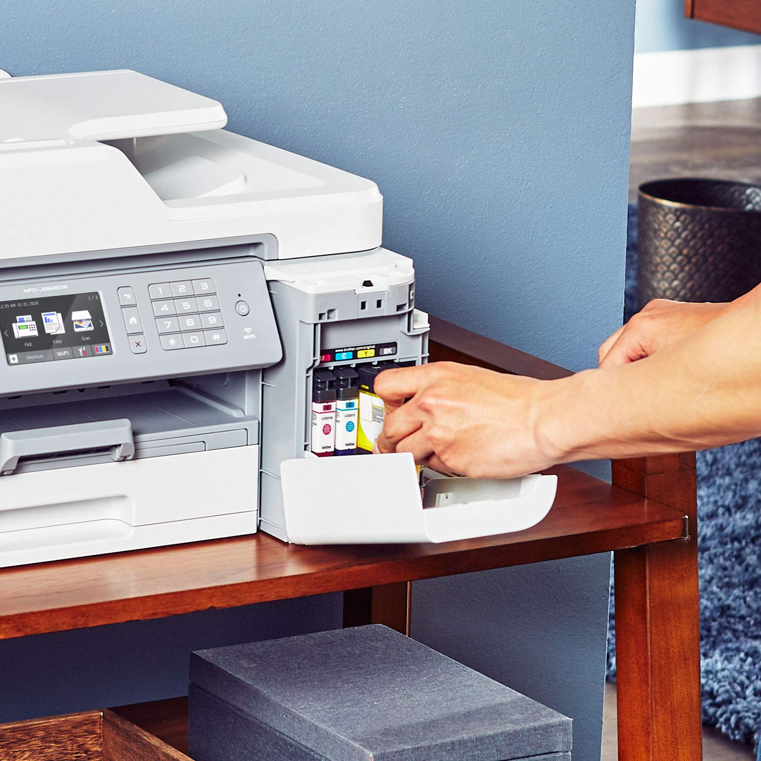 Brother Inkjet Printer, MFC-J5845DW, INKvestment Color Inkjet All-in-One Printer with Wireless, Duplex Printing and Up to 1-Year of Ink in-Box, Amazon Dash Replenishment Enabled by Brother (Image #9)