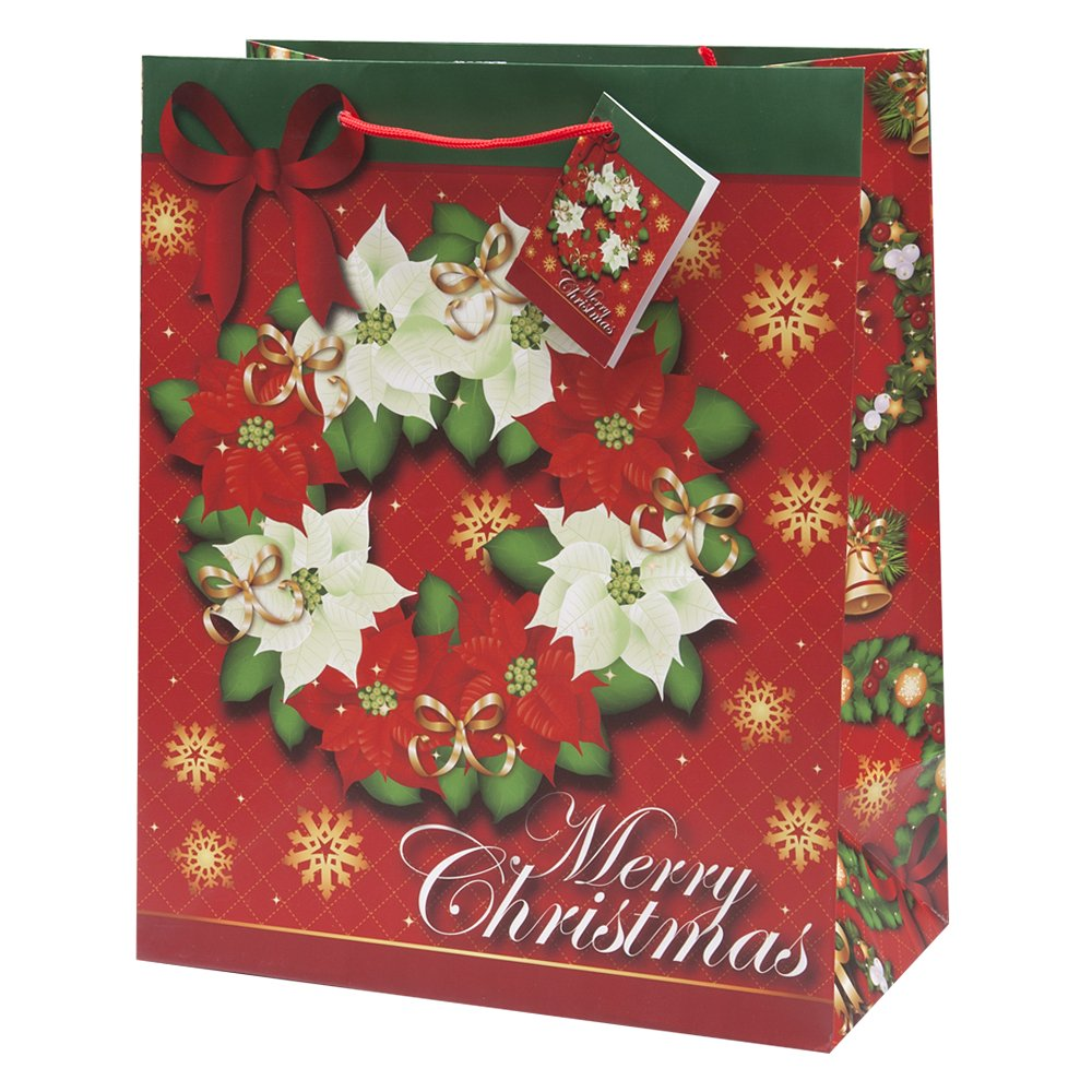 Christmas Gift Bags Part - 30: Amazon.com: 12-pack Assorted Christmas Gift Bags; (Medium): Health U0026  Personal Care