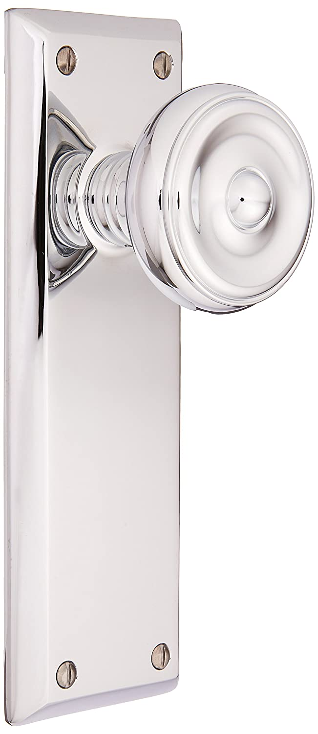 Quincyドアセットwith Waverlyノブ、in 7 Finishes 7.125 inches tall 8104WUS26 Polished Chrome, Passage 2 3/8 Polished Chrome, Passage 2 3/8 B005TUK24K