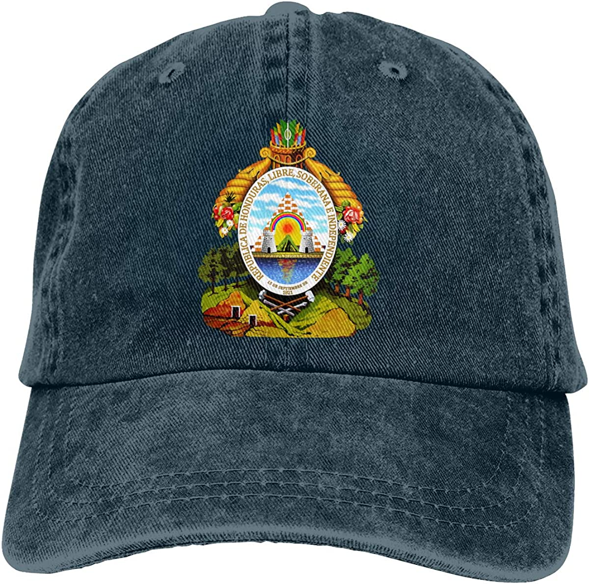 Best4U/&Me Unisex Coat of Arms of Honduras Vintage Washed Dad Hat Popular Adjustable Baseball Cap
