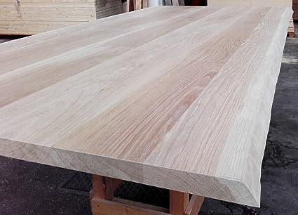 Wood Art Ely Tavolo In Castagno Legno Massello Spessore 6 7 Cm Realizzato A Mano Dimensioni 200x100x75 H I Piedi Sono Disponibili In Ferro O In Legno Colore A Scelta Amazon It Casa E Cucina