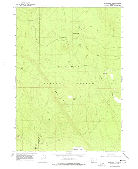 Amazon Com Yellowmaps Antelope Mtn Or Topo Map 1 24000 Scale 7 5